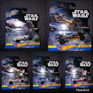 Starwars Hot Wheels Carships