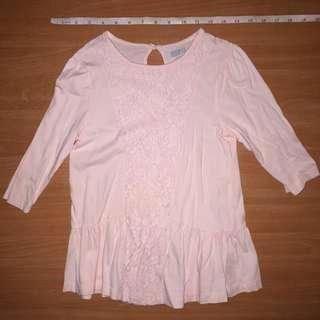 Kids Blouse with Lace Details