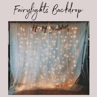 Fairy Lights Backdrop RENTAL