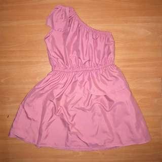 One Sided Off Shoulder Dress