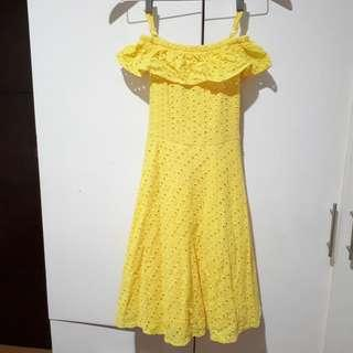 Off Shoulder Casual Dress Kids