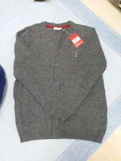 ELLE 深灰色長袖羊毛外套(150)