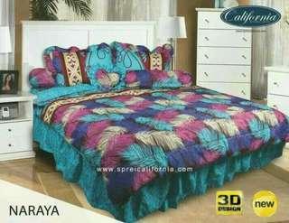 Bedcover set california/my love king