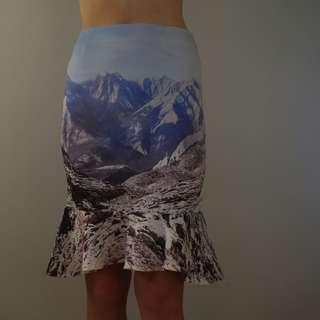 Mountains Pencil Skirt