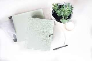 *BRAND NEW* Kikki.k Thrive Planner (medium) in SAGE and Metal Ball Point Pen (Silver)