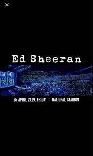 Ed Sheeran Concert 2xCAT2 SECT 105