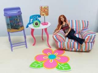 B女 Barbie BJD 娃娃 家具 客廳 魚缸 適合 4分 6分