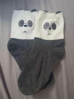 Miniso We Bare Bears Pan Pan / Panda socks