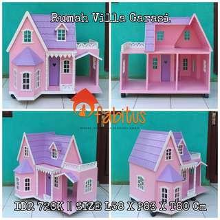 Rumah Boneka Barbie Villa Garasi
