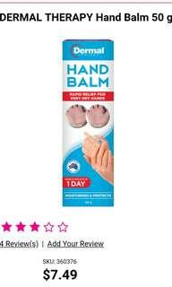 Dermal therapy hand balm