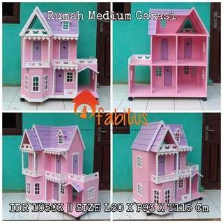Rumah Boneka Barbie Medium Garasi