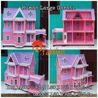 Rumah Boneka Barbie Large Garasi