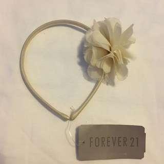 Forever 21 white flower petals hairband 白色花瓣頭箍
