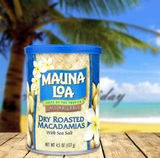 🚚 Mauna Loa 鹽焗夏威夷果仁 三罐裝