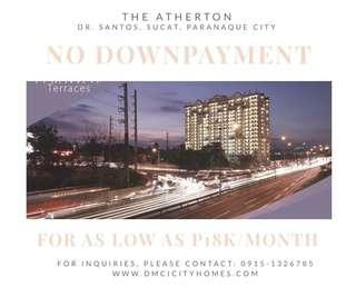 NO SPOT DOWNPAYMENT OR BIG CASHOUT-FOR SALE MIDRISE CONDOMINIUM BY DMCI IN PARANAQUE 2BR FOR AS LOW AS P18K A MONTH