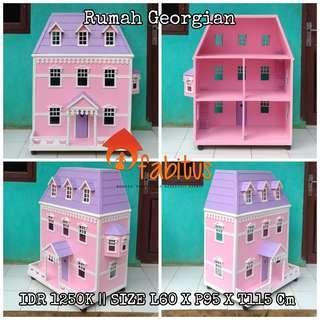 Rumah Boneka Barbie Georgian