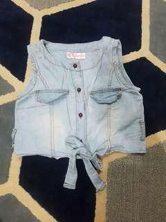 girls crop top /tied up vest