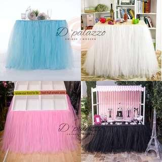 TUTU Tulle Table Skirt Birthday Party Decoration