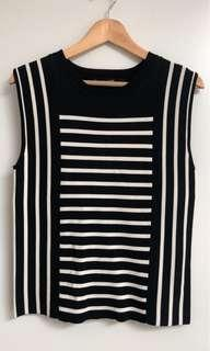 Country road stripe top - M