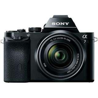Sony A7 full frame mirror less