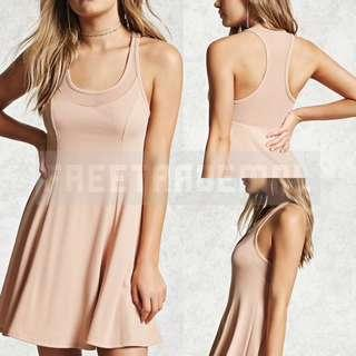 F21 Sheer Racerback Swing Dress