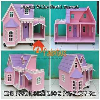 Rumah Boneka Barbie Villa Kecil Garasi