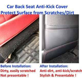 Car Back Seat Anti-Kick Dirt Cover Protect Surface from Scratches Dirt