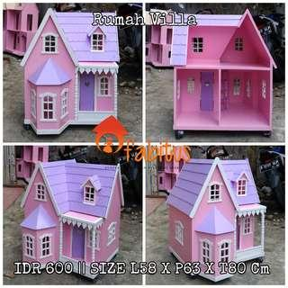 Rumah Boneka Barbie Villa