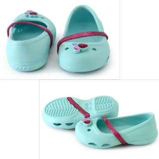 Brand New Crocs Lina K Flats In Icy Blue Size C6