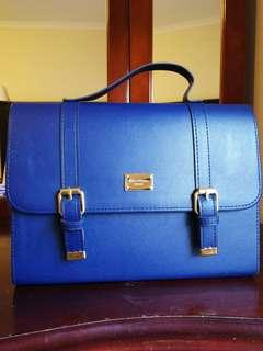 NEW Navy blue faux leather handbag purchased in Korea