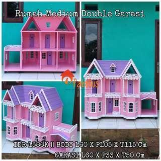 Rumah Boneka Barbie Medium Double Garasi