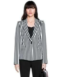 Cue Stripe Blazer Jacket - Size 12 RRP $380