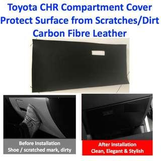 Toyota CHR Car Front Compartment Protection Cover Carbon Fiber Leather Anti Kick Scratch Pad Sticker