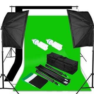 Brand New Basic Photo & Video Studio Bundle Kit Set for Sale