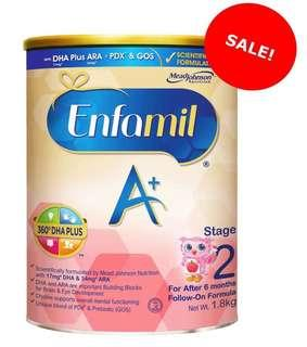 Enfamil A+ Stage 2 Follow On Formula, Singapore stock, price after 10% discount for 2 pcs and above