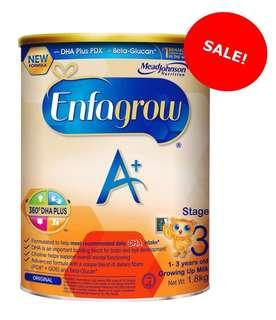 Brand New Enfagrow Stage 3, Singapore stock, price after 10% discount for 2 pcs and above