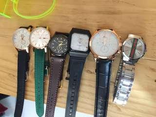 Jam tangan DW , alba , gucci