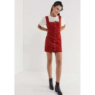 Brand New Corduroy Button-Down Mini Dress