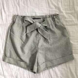 Grey tie shorts