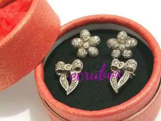 Earrings with Marcasite Stones