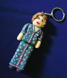 Malaysia Airlines Stewardess Clay Keychain (price reduced CLEARANCE STOCK)