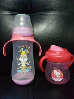 Baby bottle and sippy cup
