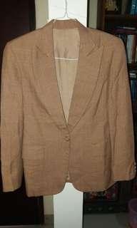 Korean brown plaid blazer