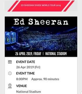 Ed Sheeran 2 x Cat 5 Tickets (Section 614)