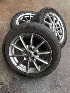 "17"" Odysessy Absolute Rims with Michelin"