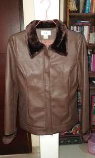 Brown leather jacket/coat