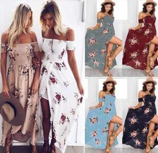 Summer dress - off shoulder