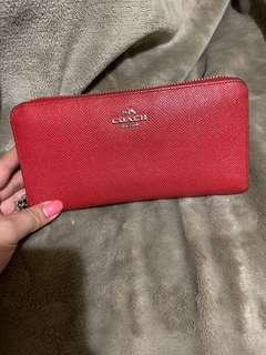 Pre-loved Coach wallet (red)
