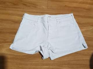 SEED white denim shorts