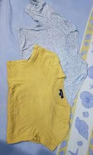 H&m oreo t shirt dan burberry original knit shirt